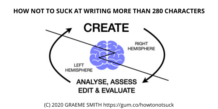https://gum.co/howtonotsuck  How to Not Suck at Writing More than 280 Characters