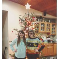 Christmas with the sis.