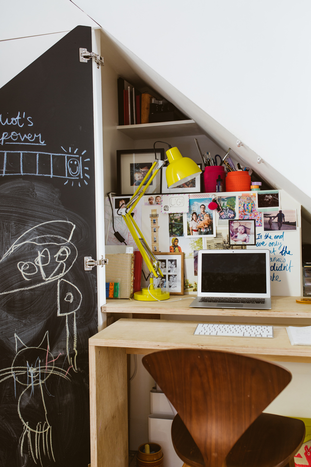 DIY PROJECT  BUILD A STUDY NOOK UNDER SOME STAIRS