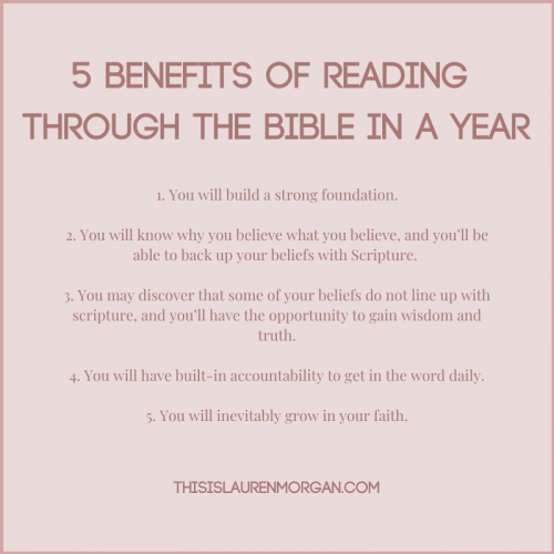 5 Benefits of Reading Through the Bible in a Year