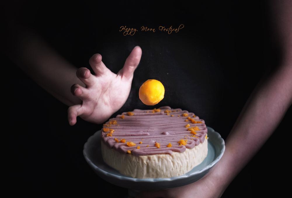 台南宅配美食。起士公爵|紫芋金沙乳酪蛋糕,中秋禮盒也能吃得沒負擔。