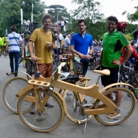 ©Barry Sandland/TIMB - Wooden bikes from Greece used in the 50km Brussels Tour