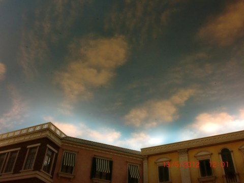 """Moving """"skies"""" at the Venetian, aka the enchanted ceiling of Hogwarts' Great Hall."""