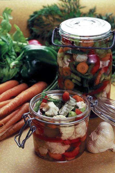 canning fresh vegetables