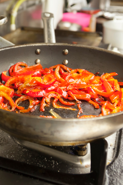 simmering hot peppers