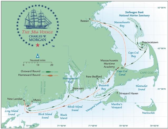 Charles Morgan 38th Voyage Map