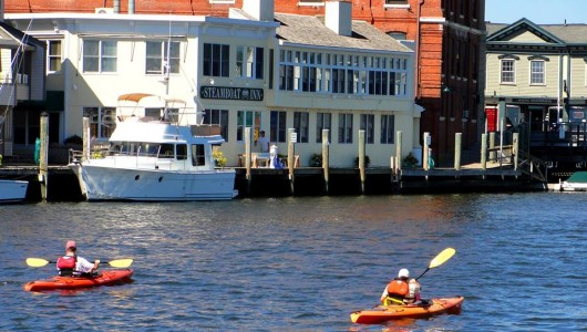 kayaking mystic river