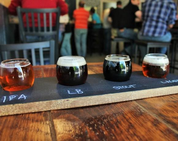 flight of olbc beers