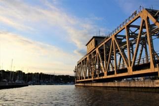 Mystic train swing bridge