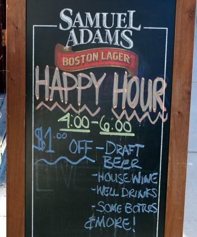 Harp and Hound Happy Hour