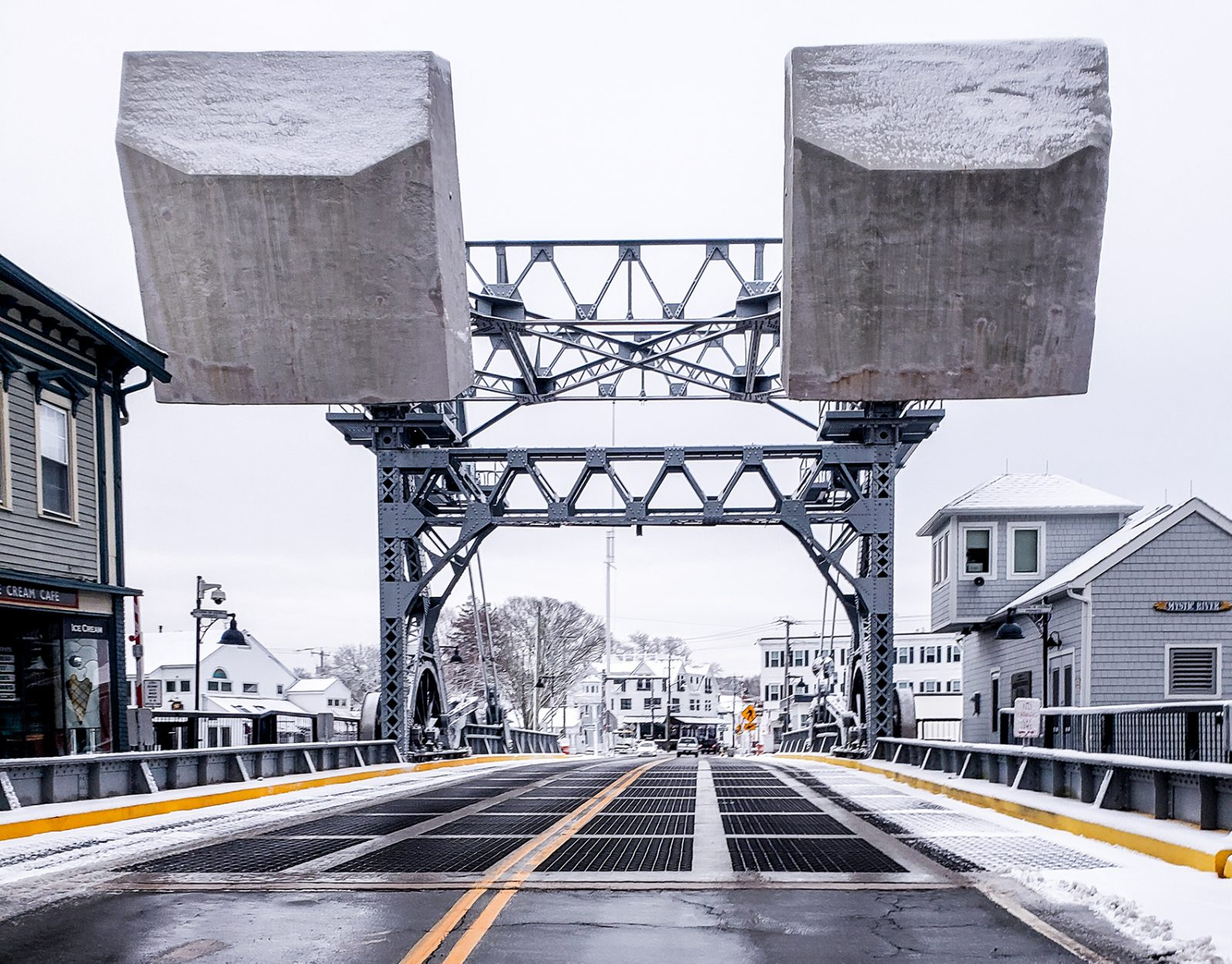 Bascule Bridge Snow