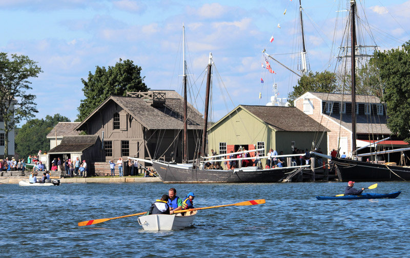 Mystic Seaport rowboat rental