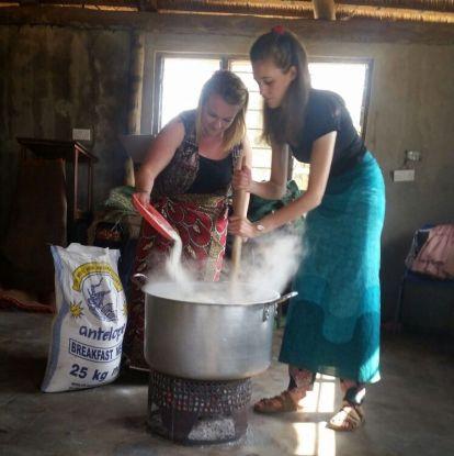 Cooking nshima