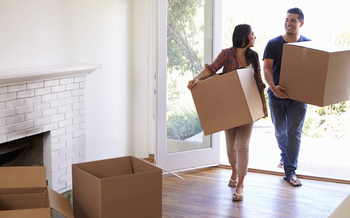 tenants moving out, carrying moving boxes