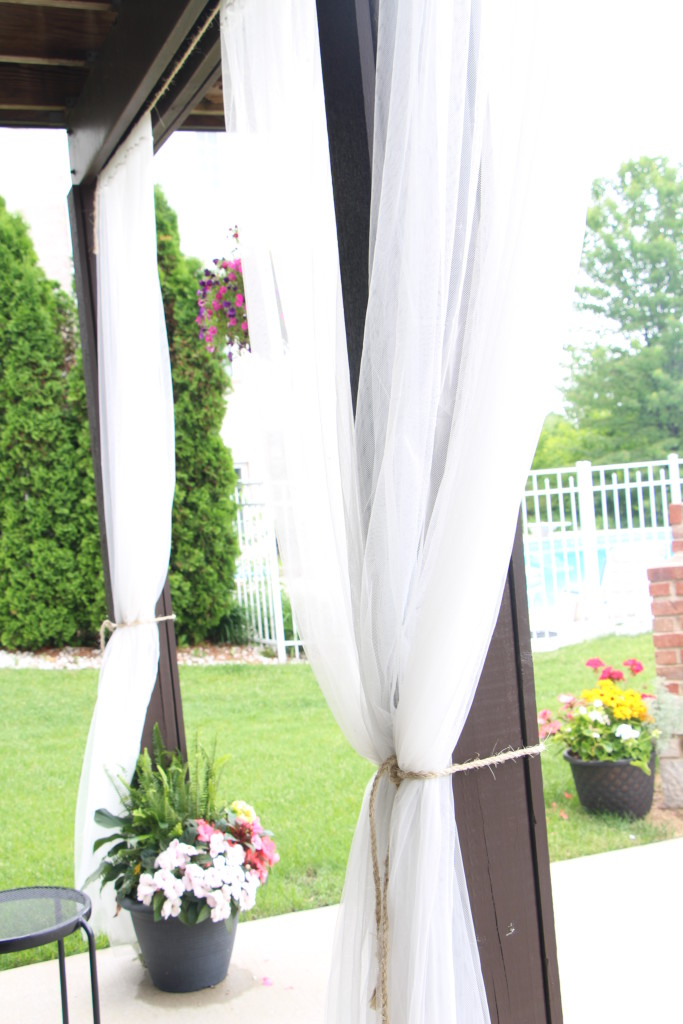 outdoor oasis | how to DIY outdoor patio curtains | This is our Bliss