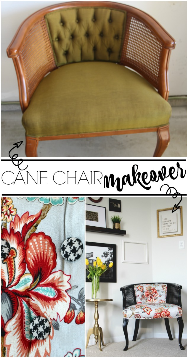 Cane chair makeover | One Room Challenge DIY project | This is our Bliss