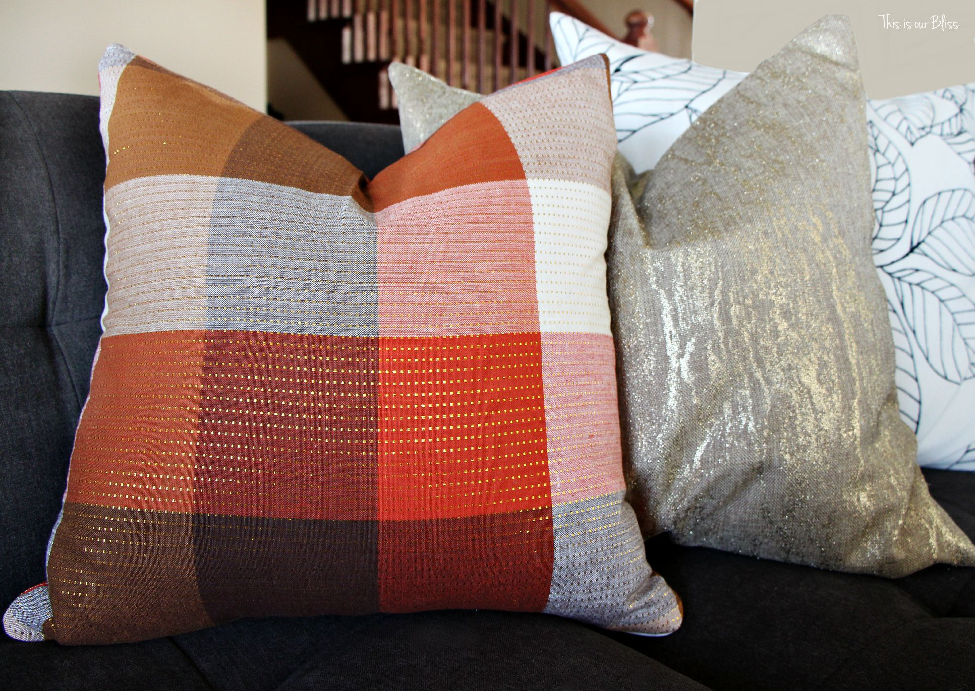 DIY Fall Pillows [for under $5] This is our Bliss