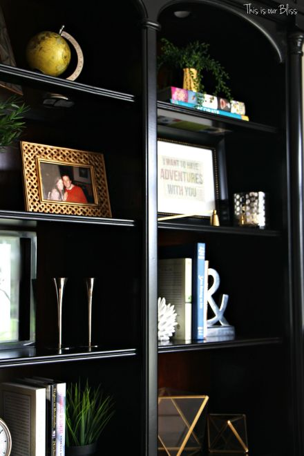 formal living room bookcase before 1 - how to update an old bookcase - This is our bliss