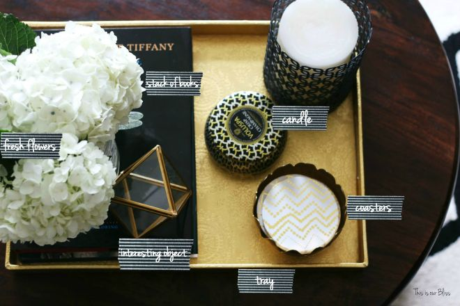 How to style a coffee table - coffee table styling - elements of a well-styled coffee table - 6 element labels - Back to Basics 2 - This is our Bliss