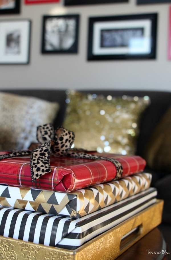 easy christmas decorating - wrapped coffee table books 1 - This is our Bliss
