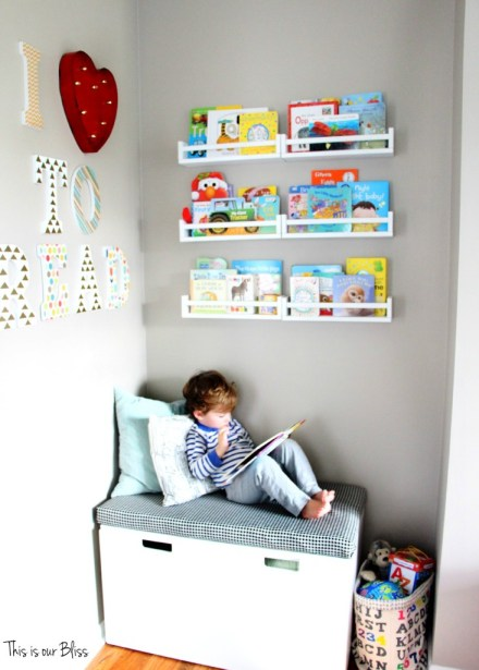 Playroom DIY Reading Nook - This is our Bliss