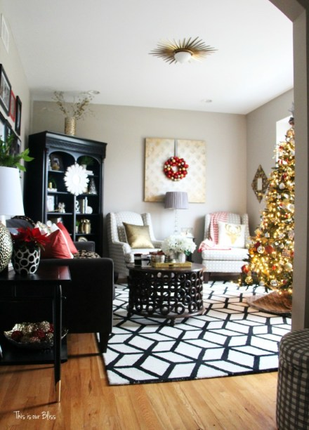 formal living room christmas decor - 12 days of christmas tour of homes - blogger holiday tour - This is our Bliss