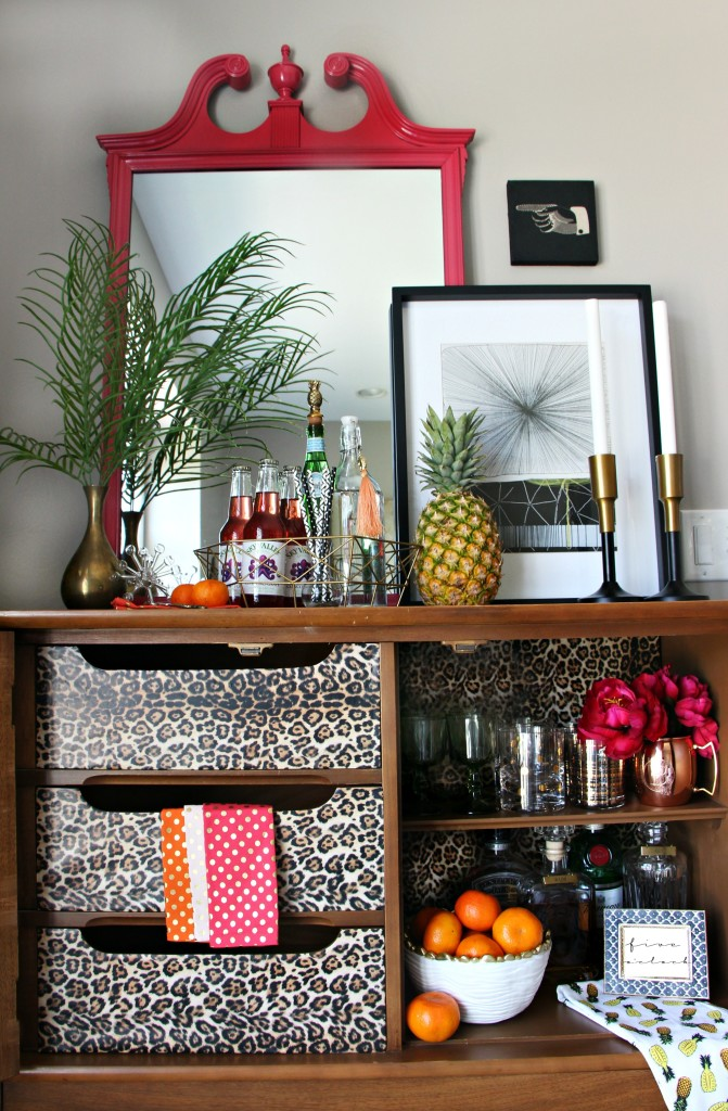 Eddie Ross Inspired by DIY | Indoor Summer Bar | modern mix | Pattern play | This is our Bliss