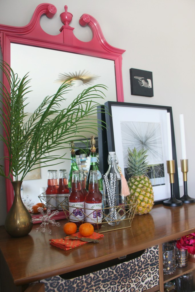 Eddie Ross Style Inspired by DIY | Indoor Summer Bar car styling | dresser upcycle | leopard | This is our Bliss
