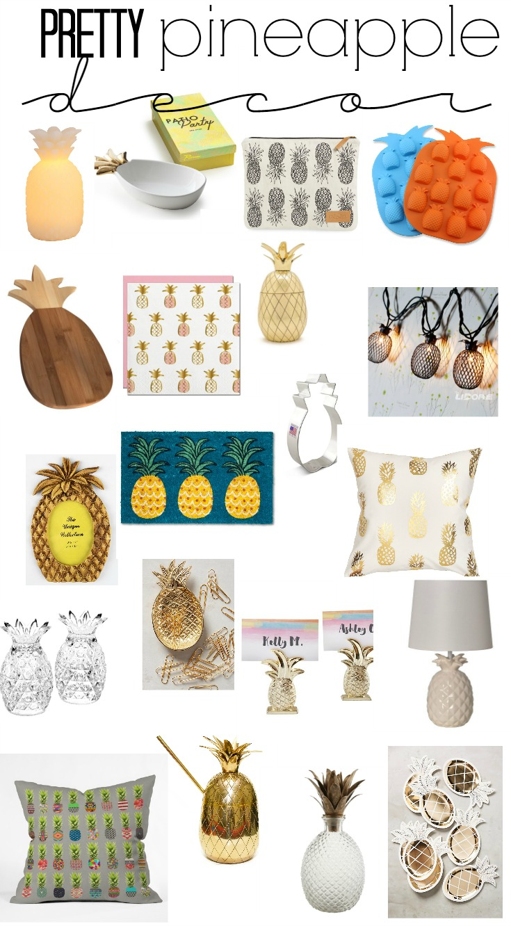 my current crush pineapples pretty pineapple decor pieces