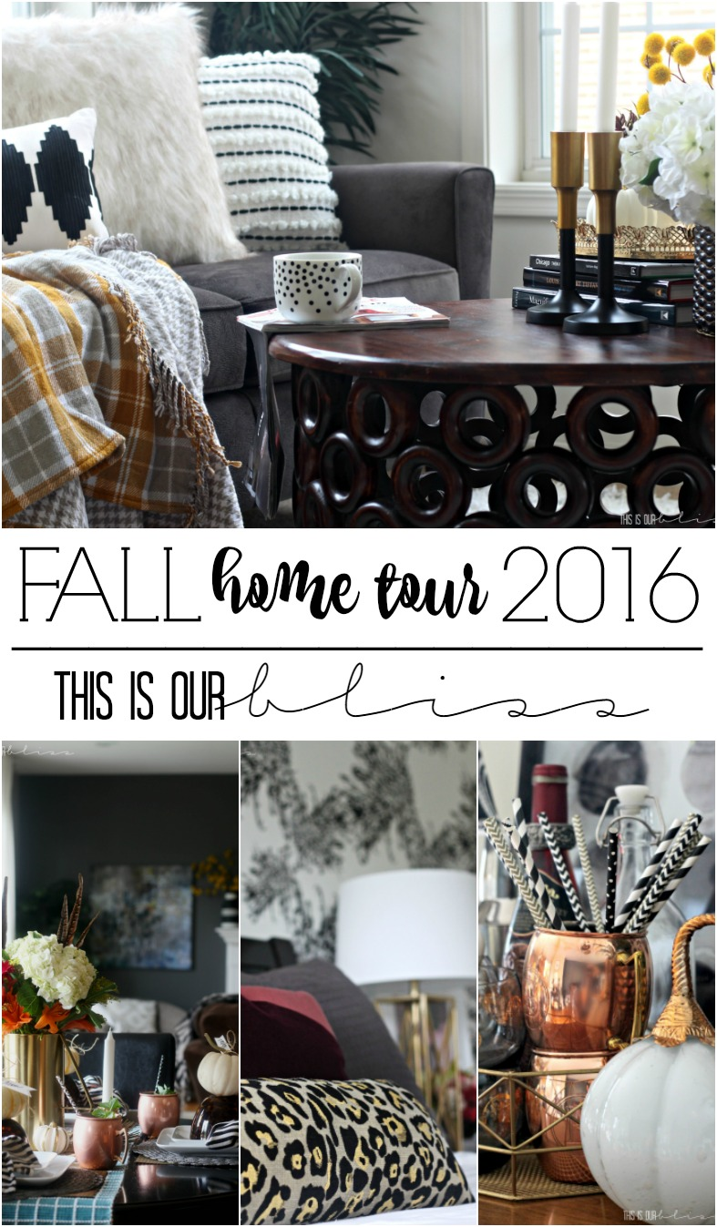 Bold Graphic Glam Fall Home Tour 2016 | This is our Bliss | www.thisisourbliss.com