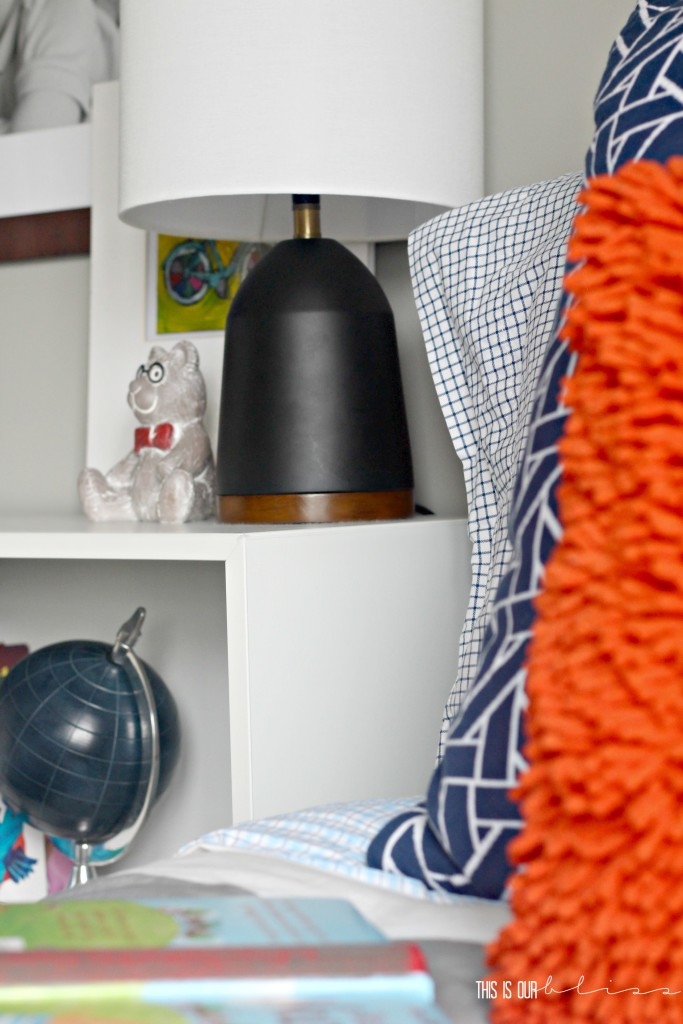 bright bold and colorful pattern play in a little boy space   This is our Bliss