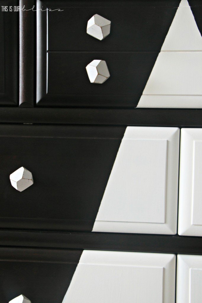 dresser update to give a graphic, modern twist! so cute for a little boy's room   This is our Bliss