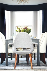 Bold Graphic Glam Dining Room Reveal   One Room Challenge Fall 2016   Modern Eclectic Dining Room with lots of pattern play!   This is our Bliss    www.thisisourbliss.com