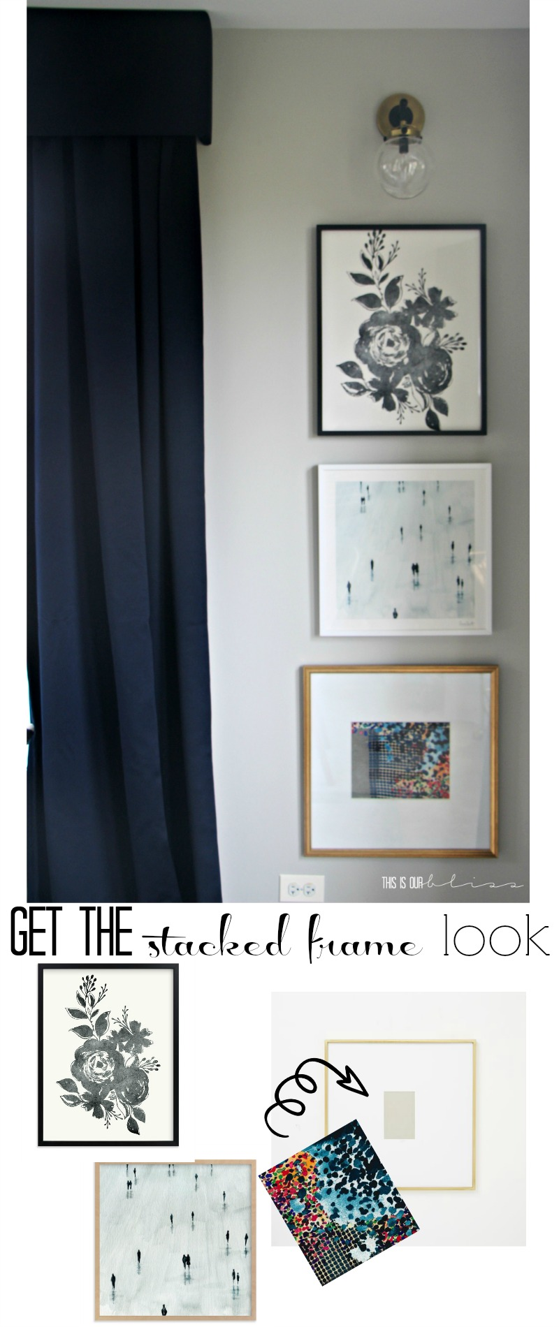 Get the look | Stacked frames in the dining room | One Room Challenge Fall 2016 | This is our Bliss | www.thisisourbliss.com