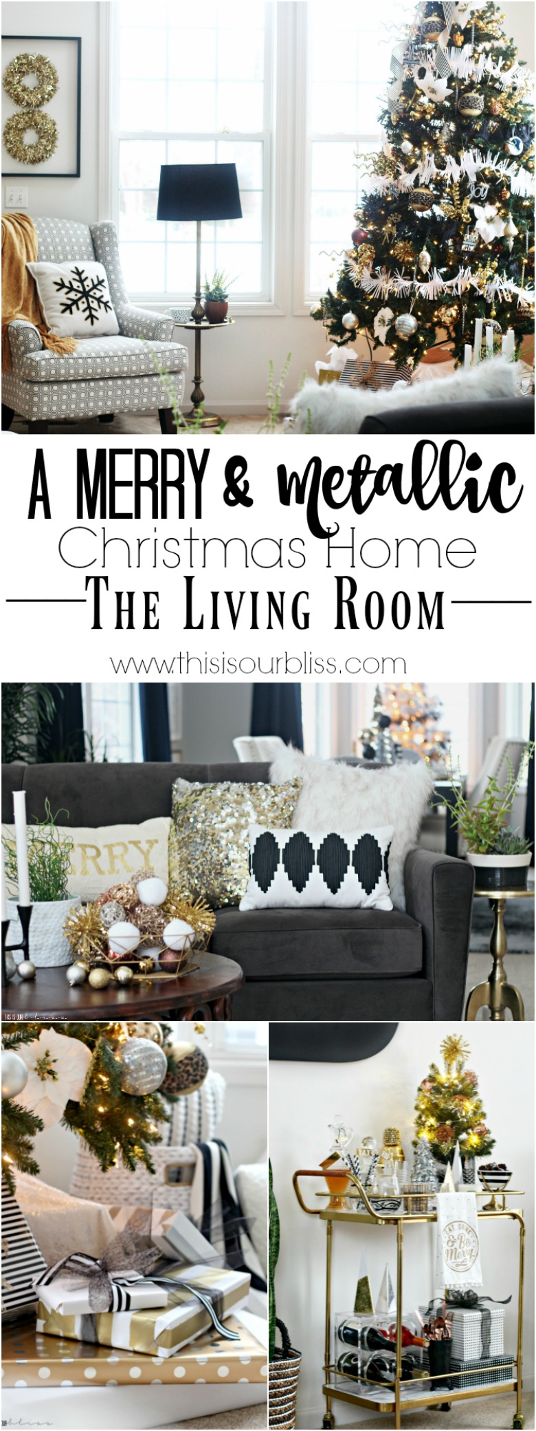 A merry and metallic christmas living room 2016 this is for Living room 2016