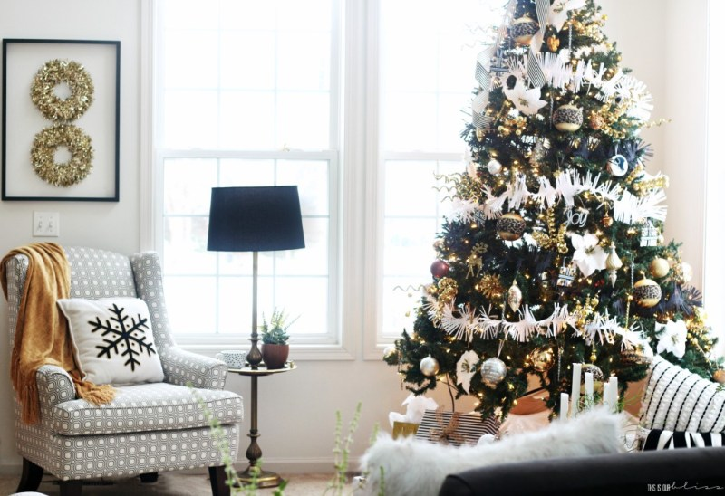 A Merry And Metallic Christmas Living Room 2016 This Is