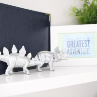 Simple Silver Dinosaurs {DIY for $2}