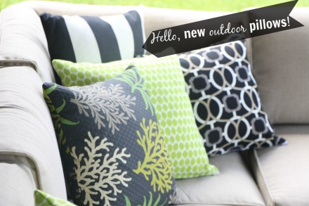 hello, new outdoor pillows!