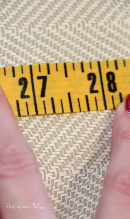 measurements for DIY wrapping paper wall covering