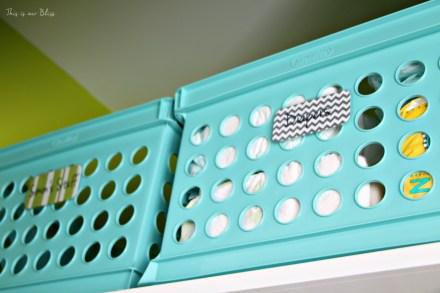 Baby boy nursery closet - DIY nursery decor - navy green gray - This is our Bliss 5