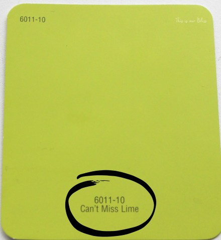 Can't Miss LIme - valspar paint - DIY nursery closet - navy green gray - This is our Bliss
