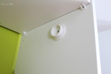 closet rod holders - Simon's Nursery Closet - DIY nursery closet - This is our Bliss