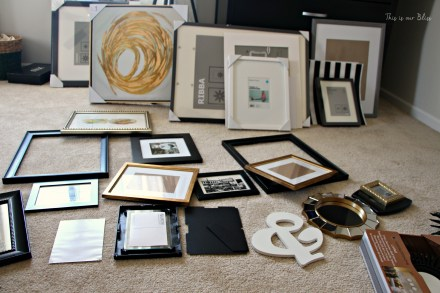 gallery wall planning - guestroom revamp - This is our Bliss