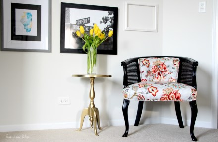 This is our bliss - illinois state watercolor - guestroom revamp - place in progress - cane chair makeover - this is our bliss