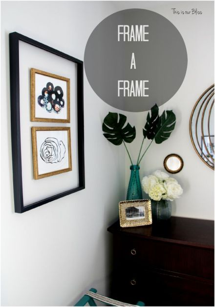 Framing a frame - gallery wall - how to - diy open frame - painting a frame -Think again - This is our Bliss