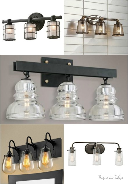 Industrial Vanity Light options - This is our Bliss