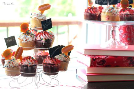 Books & BBQ birthday bash - 3rd birthday party - summer party - cupcakes 4 - This is our Bliss