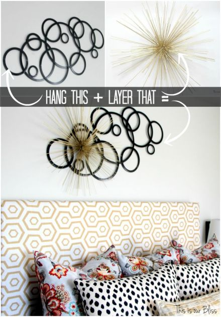 Layered wall art - how to layer wall art - wall decor - guestroom revamp - this is our bliss