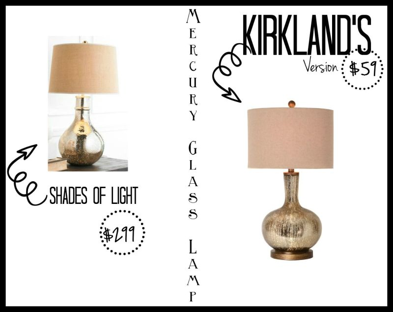 kirklands partnered post - mercury glass lamp - look for less - this is our bliss