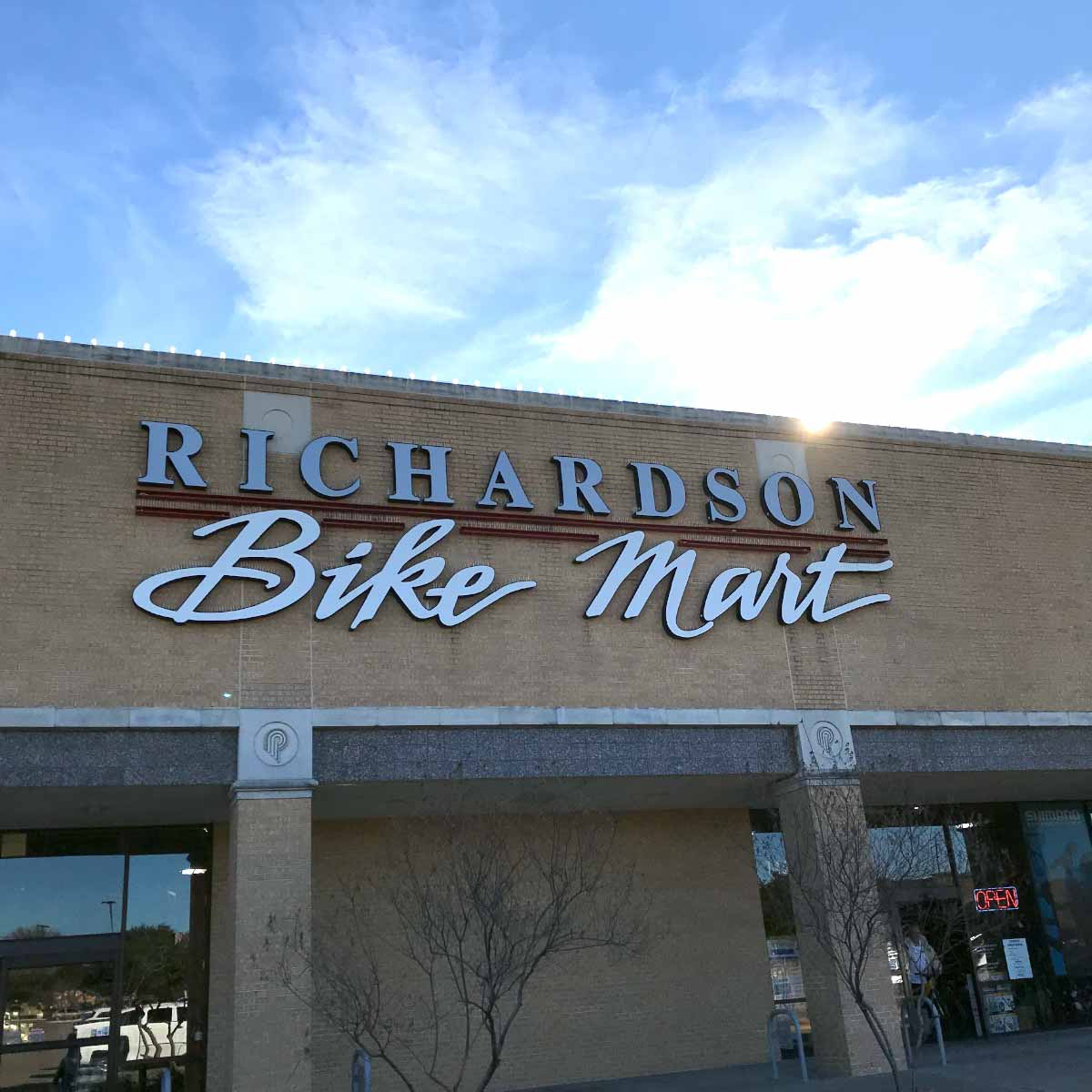 Picture of Richardson Bike Mart. This is Richardson podcast.